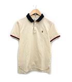 モンクレール MONCLER グルノーブル GRENOBLE ポロシャツ 半袖 レギュラーカラー ロゴ 刺繍 ワッペン M 紺 アイボリー 赤 /PJ