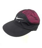 シュプリーム SUPREME NIKE 17AW TRAIL RUNNING CAP 帽子 キャップ 野球帽 ロゴ 56cm 黒 ブラック ピンク /PJ
