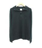 バーバリー BURBERRY セーター ニット ハーフジップ カシミヤ100% 長袖 S P 緑 グリーン /YM