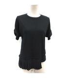 エムエムシックス MM6 メゾンマルジェラ 16SS S Tシャツ カットソー プリーツ 半袖 黒 ブラック /TK