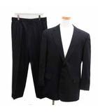 ブルックスブラザーズ BROOKS BROTHERS スーツ セットアップ ジャケット パンツ 上下 シングル 総裏地 2B ウール ストライプ 34W L 紺 ネイビー /BM5
