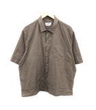 エルメス HERMES 近年モデル シャツ 半袖 コットン 43 17 L カーキ /KH