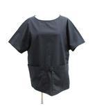 エルメス HERMES カットソー シャツ 半袖 Hロゴ ビックポケット フランス製 34 XS 紺 ネイビー /ST