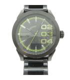 Double Down 2.0 腕時計 クオーツ アナログ ステンレス 黒 ブラック DZ-1678 /PJ