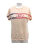 Tシャツ カットソー ロゴ プリント 半袖 14歳 160cm ピンクベージュ /YM ジュニア