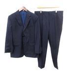 スーツ セットアップ PARIS ウールシルク混 2B ジャケット パンツ 52 L ネイビー 紺 /☆G