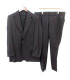 ヴィンテージ スーツ ピンストライプ セットアップ ジャケット パンツ 50 L 黒 ブラック /☆G