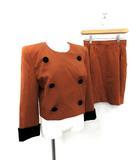 フォクシー FOXEY スーツ セットアップ 上下 ジャケット スカート 40 茶 /KH