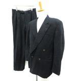 カナーリ CANALI スーツ セットアップ 上下 ダブル ジャケット パンツ 48 黒 /TK ■KRB