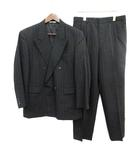Louis Feraud スーツ ダブル セットアップ ストライプ パンツ チャコールグレー  /☆G