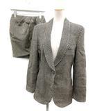エンポリオアルマーニ EMPORIO ARMANI セットアップ 上下 スーツ ジャケット スカート ストライプ 40 黒 白 /EK