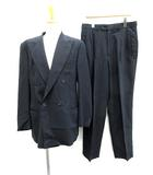 エンポリオアルマーニ EMPORIO ARMANI スーツ セットアップ 上下 ジャケット パンツ ダブル 50 紺 /KH