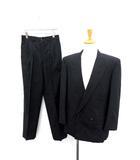 コムデギャルソンオムドゥ COMME des GARCONS HOMME DEUX ダブル スーツ セットアップ 上下 ジャケット パンツ S 紺 /YM