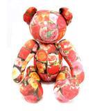 コムデギャルソン COMME des GARCONS Jingle Flowers ぬいぐるみ テディベア 花柄 赤 ピンク /YH