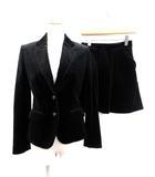 ポールスミス ブラック レーベル Paul Smith BLACK LABEL スーツ セットアップ 上下 ジャケット スカート ベロア 40 38 黒 /KH
