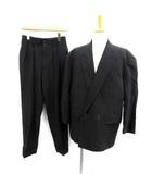 コムデギャルソンオムプリュス COMME des GARCONS HOMME PLUS スーツ セットアップ 上下 ジャケット パンツ ダブル S 黒 /KH