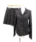 シーバイクロエ SEE BY CHLOE セットアップ 上下 スーツ ジャケット スカート 総柄 黒 /EK