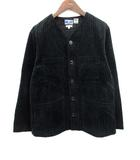 ブルーブルー BLUE BLUE ARIGATO ジャケット コーデュロイ ノーカラー 2 黒 /KH