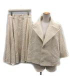 ワイズ Y's ヨウジヤマモト スーツ セットアップ 上下 ジャケット スカート 刺繍 2 アイボリー /KH ●D