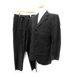 バーバリーブラックレーベル BURBERRY BLACK LABEL スーツ セットアップ 上下 ストライプ ジャケット パンツ 40R 黒 /TK