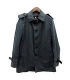 バーバリーブラックレーベル BURBERRY BLACK LABEL ステンカラー スプリングコート M 黒 ブラック /TK ■KRA