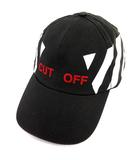 オフホワイト OFF WHITE 16AW CUT OFF CAP キャップ コットン 帽子 黒  ■KRB  /☆G