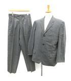 ワイズフォーメン Y's for men ヨウジヤマモト スーツ セットアップ 上下 ストライプ ジャケット パンツ S グレー /TK ■KRA