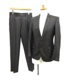 ハイストリート HIGH STREET スーツ セットアップ 上下 ストライプ ジャケット パンツ S 茶 /TK