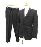 ハイストリート HIGH STREET スーツ セットアップ 上下 ストライプ ジャケット パンツ S 黒 /TK