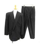 コムデギャルソンオム COMME des GARCONS HOMME スーツ セットアップ 上下 ジャケット パンツ ダブル M 黒 ブラック /KH