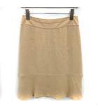 シャネル CHANEL 01C スカート フレア ひざ丈 38 ベージュ /YM ●D