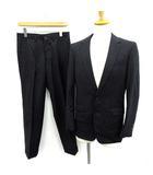トゥモローランド TOMORROWLAND シングル スーツ セットアップ 上下 ストライプ ジャケット パンツ 46 紺 /YM