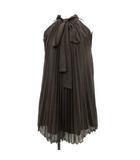 グレースコンチネンタル GRACE CONTINENTAL ワンピース ドレス ひざ丈 プリーツ 36 カーキ /YM