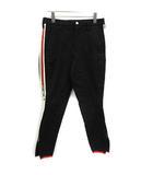 グッチ GUCCI 17年製 パンツ スキニー ギャバジン ストレッチ サイドライン 46 黒 ブラック /KH