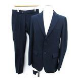 ナノユニバース nano universe スーツ セットアップ 上下 ジャケット パンツ ストライプ S 紺 ネイビー /EK