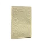 コムデギャルソン COMME des GARCONS カードケース 名刺入れ ロゴ型押し レザー アイボリー /KH