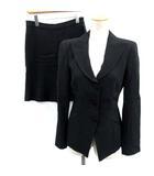 アルマーニ コレツィオーニ ARMANI COLLEZIONI スーツ セットアップ 上下 ジャケット スカート 38 黒 ブラック /EK