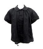 トリココムデギャルソン tricot COMME des GARCONS AD2013 ブラウス 半袖 リネン コットン 黒 ブラック S /☆Q24