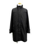 バーバリー BURBERRY コート ジップアップ ライナー付き 黒 ブラック L /☆Q19