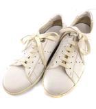 ルイヴィトン LOUIS VUITTON スニーカー レザー 靴 ローカット ホワイト 白 /☆G