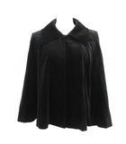 ルネ Rene ポンチョ ジャケット ステンカラー ベロア 9 黒 ブラック /KH
