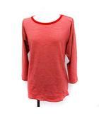 マーガレットハウエル MARGARET HOWELL ジョンスメドレー JOHN SMEDLEY Tシャツ カットソー ボーダー 七分袖 2 赤 レッド /YM