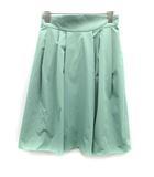 フォクシーニューヨーク FOXEY NEW YORK スカート フレア ひざ丈 40 ミントグリーン 緑 /KH