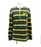 アパルトモン ドゥーズィエムクラス L'Appartement DEUXIEME CLASSE ポロシャツ 長袖 ボーダー 刺繍 緑 黄色 グリーン イエロー /KH