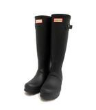 ハンター HUNTER 長靴 レインブーツ ロング Original Tall Boots ラバー  UK4 黒 ブラック WFT100RMA /TK