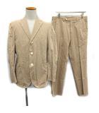 ボリオリ BOGLIOLI スーツ セットアップ 上下 ジャケット パンツ 46 ベージュ /KH