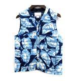 ナナミカ nanamica Spring Hybrit Vest ダウンベスト リーフ柄 XS 紺 ネイビー 青 ブルー SUAS510 /EK