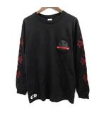 クロムハーツ CHROME HEARTS Tシャツ カットソー プリント 長袖 M 黒 ブラック /EK