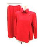 クリスチャンディオール Christian Dior PRET-A-PORTER セットアップ スーツ 上下 ジャケット スカート 7 赤 レッド /EK
