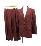 ジバンシィ GIVENCHY スーツ セットアップ 上下 ジャケット パンツ シルク混 44 えんじ色 /YM